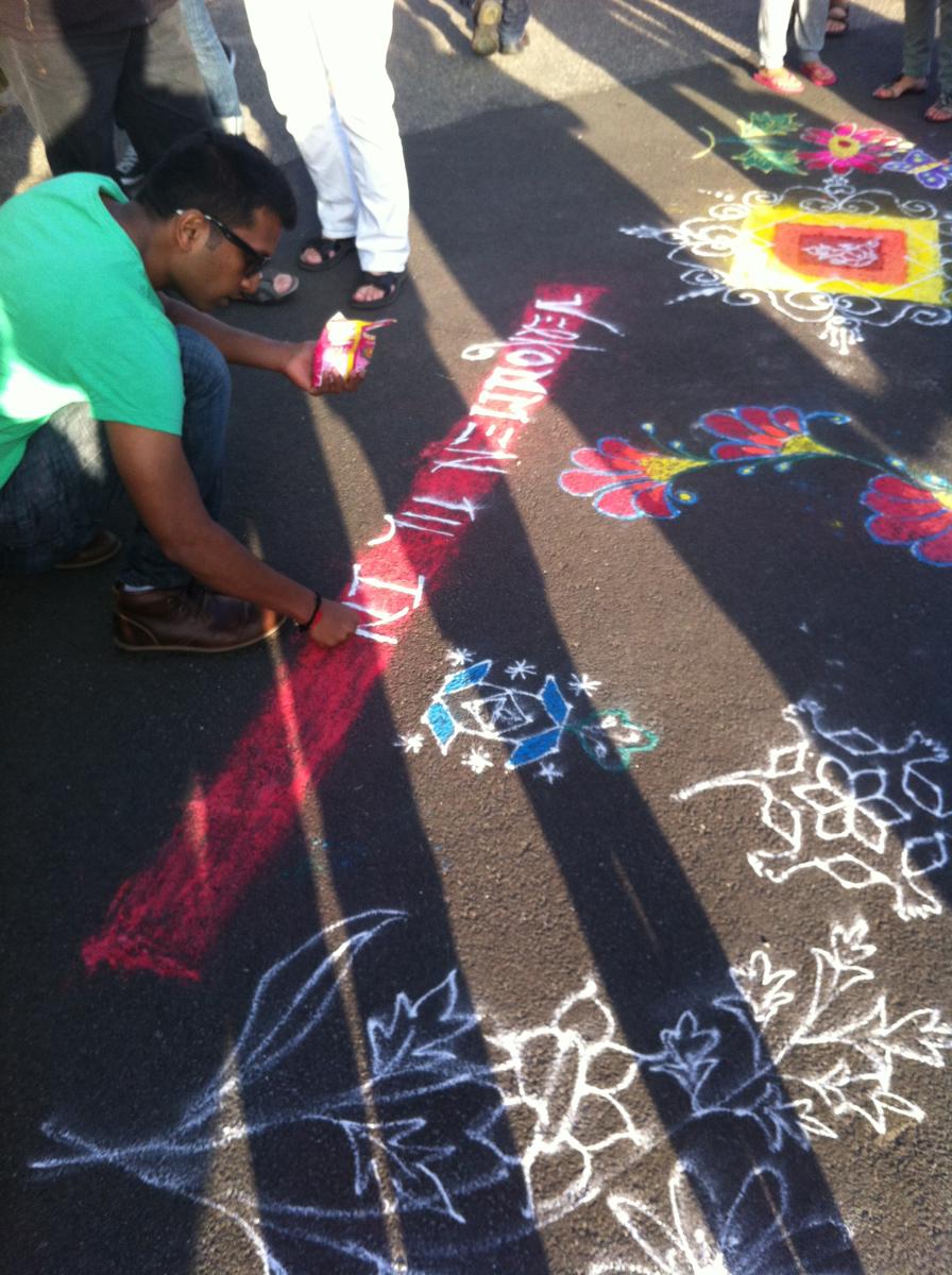 Rangoli – gadekunst fra Indien