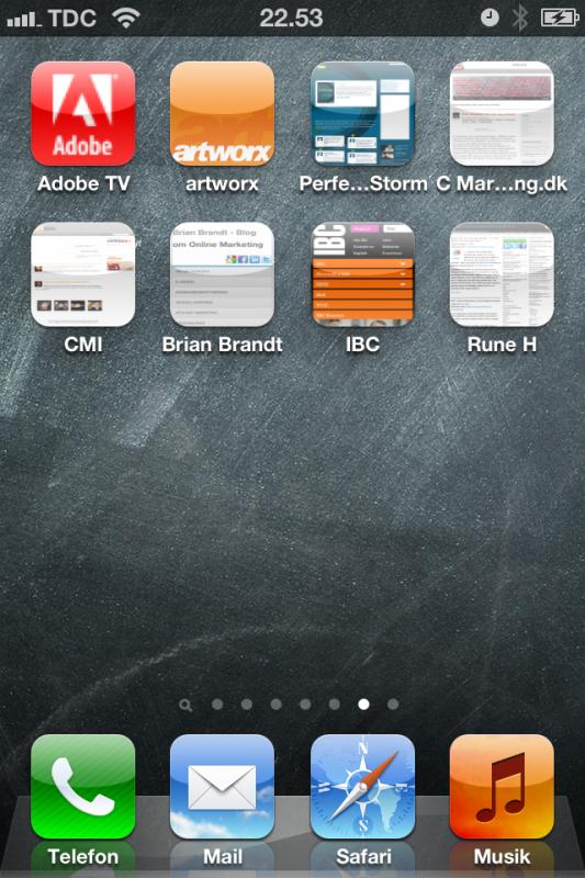 artworx - branding af dit firma på Apple home screen
